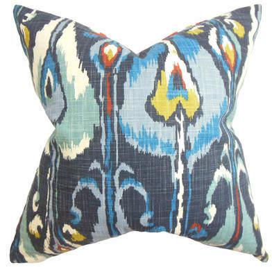 Wayfair Bengal Pillow in Indigo (Set of 2)