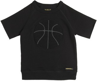Finger In The Nose Basketball Patch Cotton T-Shirt
