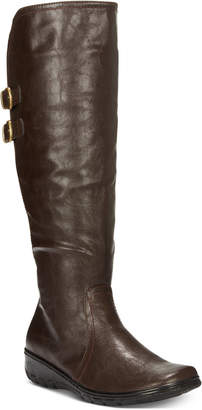 Easy Street Shoes Tess Wide-Calf Buckle Boots Women's Shoes