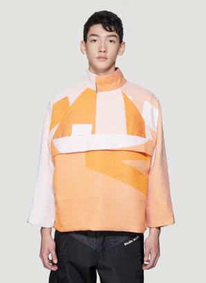 Studio Alch Reversible Jacquard Sweatshirt in Orange