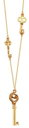 House of Harlow 1960 Gold-Plated Long Key Necklace