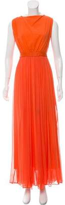 Alice + Olivia Silk Sleeveless Maxi Dress