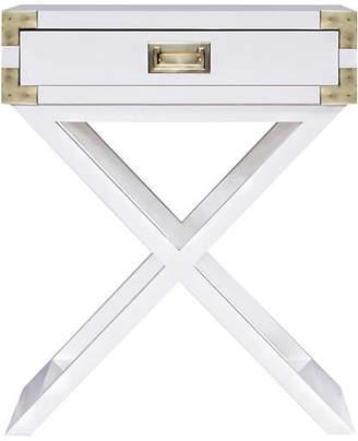 Selamat Kimber Campaign Nightstand - White