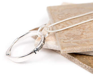 Lovethelinks Love Today Silver Plated Message Necklace