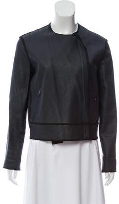 Lanvin Leather Structured Jacket