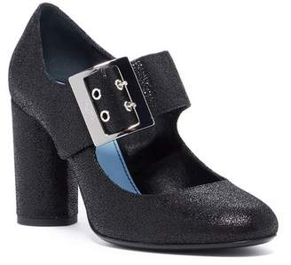 Lanvin Wide Mary Jane Block Heel Pump