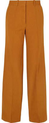 Victoria Beckham Wide-leg Crepe Pants - Saffron