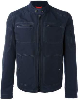 Fay collarless jacket