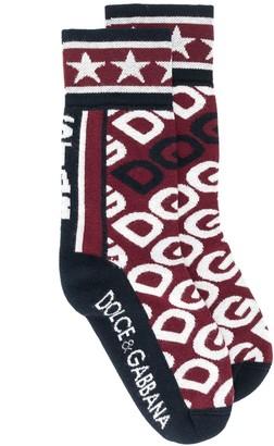 Dolce & Gabbana intarsia logo socks