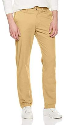 Men's Classic-Fit Wrinkle-Resistant Pleated Casual Chino Pants Color Size