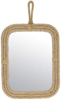 STONEBRIAR COLLECTION CKK Home Decor Stonebriar Collection Rope Rectangle Mirror with Loop Hanger
