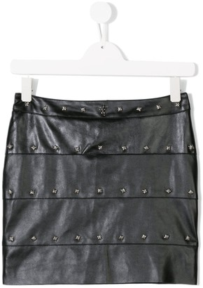 John Richmond Junior Teen studded faux leather skirt