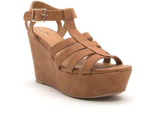 Qupid Womens Ardor-170 Wedge Sandals
