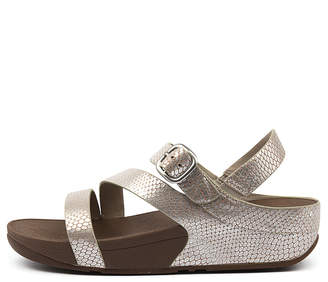 FitFlop The skinny z cross sandal Silver Sandals Womens Shoes Casual Sandals-flat Sandals