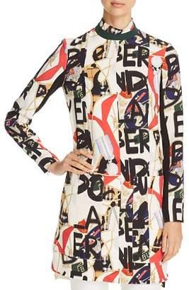 Burberry Zoya Abstract Logo Print Dress