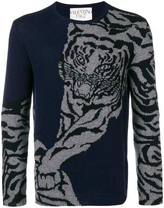 Valentino tiger re edition print jumper
