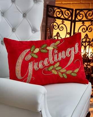 Mackenzie Childs MacKenzie-Childs Greetings Pillow
