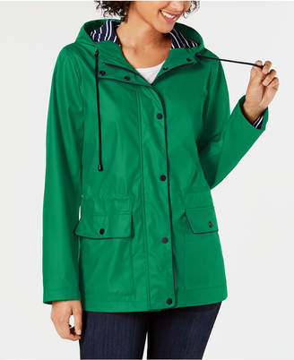 Charter Club Hooded Raincoat