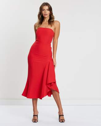 Atmos & Here Strapless Cocktail Dress