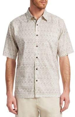 Saks Fifth Avenue COLLECTION Diamond Print Shirt