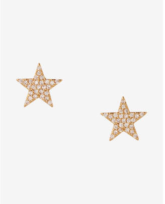 Express Cubic Zirconia And Gold Star Stud Earrings $12.90 thestylecure.com