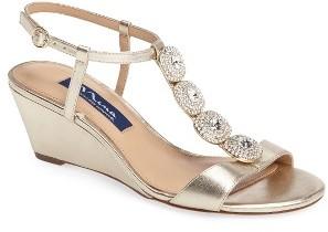 Women's Nina Natania Swarovski Wedge Sandal $248.95 thestylecure.com