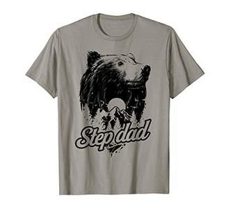 48b93f330 Mens Step Dad Bear Nature Wild Forest Lover Father Father's Day T-Shirt