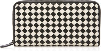 Bottega Veneta Zip Around Leather Wallet