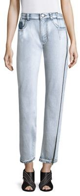 3.1 Phillip Lim 3.1 Phillip Lim High-Rise Zip Detail Straight-Leg Jeans