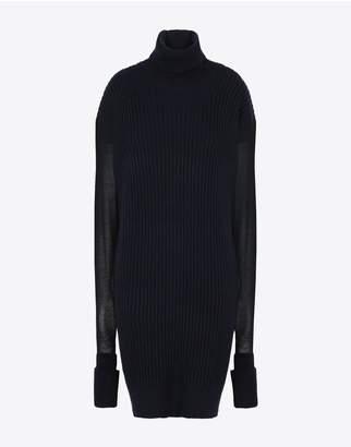 Maison Margiela Long Sweater With Mesh Sleeves