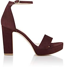 Barneys New York WOMEN'S SUEDE ANKLE-STRAP PLATFORM SANDALS
