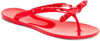 Dizzy Studded Jelly Flip Flops