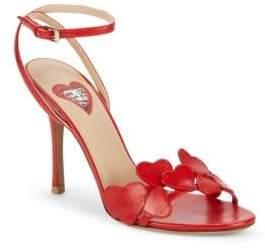 Valentino Heart Leather Stiletto Sandals