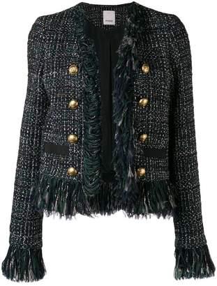 Pinko frayed edge tweed jacket
