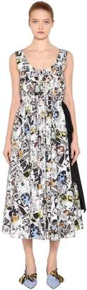 Prada Comic Printed Cotton Poplin Dress
