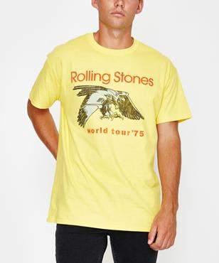 Bravado Rolling Stones Short Sleeve T-shirt Yellow