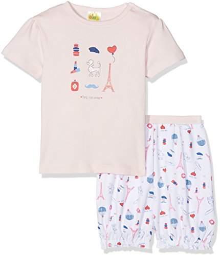 DIMO-TEX Baby Girls' Babypyjama Paris Shorty 2 Teilig Pyjama Set,9-12 Months