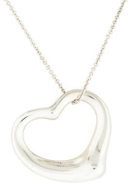 Tiffany & Co. Large Open Heart Pendant Necklace $425 thestylecure.com
