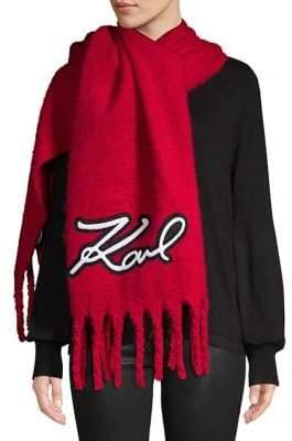 Karl Lagerfeld Paris Logo Oversized Blanket Scarf