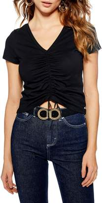 Topshop Ruched Front Tee