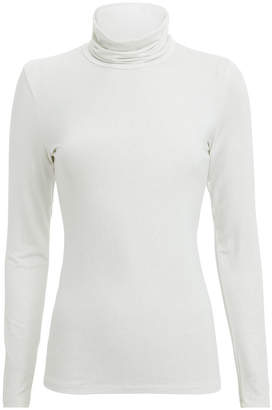 Majestic Filatures Metallic Silver Turtleneck