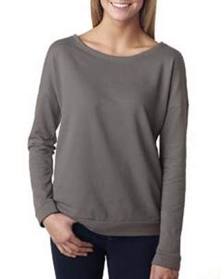 Next Level Apparel Next Level Ladies' French Terry Long-Sleeve Scoop