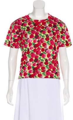Marc Jacobs Floral Print Knit T-Shirt