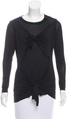 Marques Almeida Marques'Almeida Knot-Accented Long Sleeve Top w/ Tags