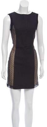 Rag & Bone Wool Lace-Accented Dress