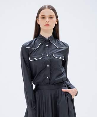 Calvin Klein (カルバン クライン) - CK CALVIN KLEIN WOMEN 【2018AW COLLECTION】パラシュートポリ シャツ(C)FDB