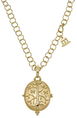 Temple St. Clair 18K Yellow Gold Tree of Life Locket with Diamonds