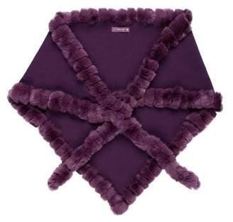 Glamour Puss Glamourpuss Knit Fur Shawl