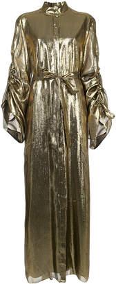 Osman ruched sleeves maxi dress