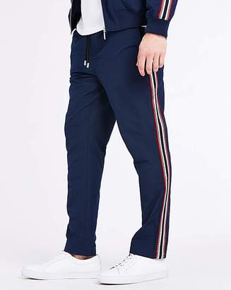 Jacamo Navy Side Tapered Trousers 31 in